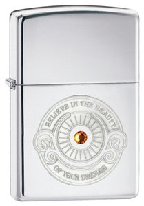 Zippo Zippo Lighter Silver Beauty Believe 28183