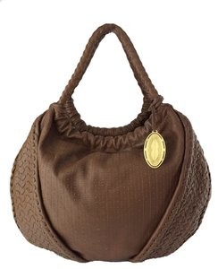 Elie Tahari Emmy Leather Hobo Bag