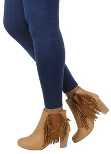 Chase & Chloe Cognac Boots