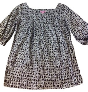 Lilly Pulitzer Top Brown and White