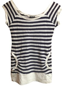 MIMI & COCO Made In Italy & Lounge T Shirt navy and white stripe