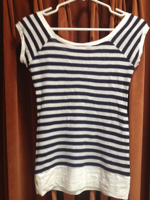 MIMI & COCO Made In Italy Lounge T Shirt navy and white stripe