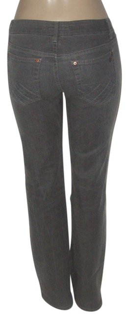 Item - Gray Coated Fuse Cotton Spandex Blend Boot Cut Jeans Size 28 (4, S)