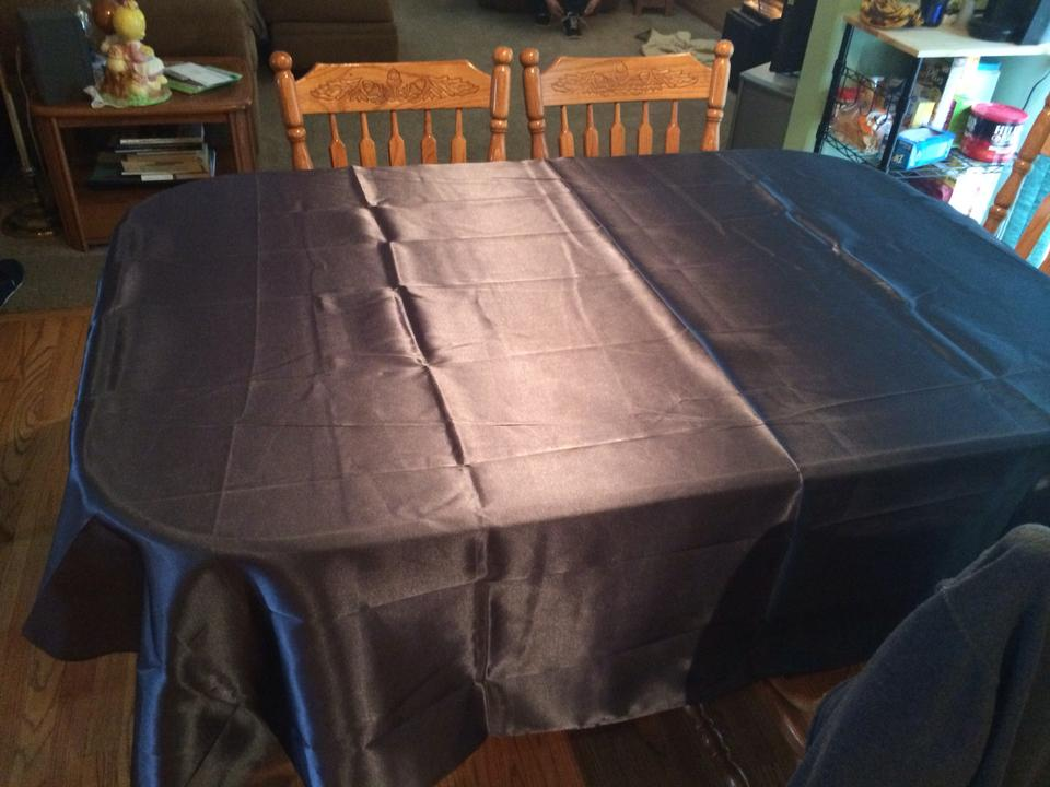 Pewter 24 satin square table overlays 85x85 tablecloth for Transmutation table 85 items