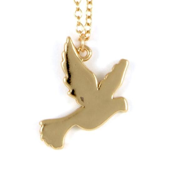 Ettika Ettika Gold Dove Chain Charm Necklace