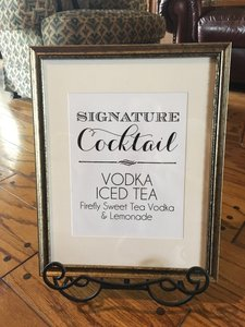 e047ef4628c Picture Frame Signature Cocktail Sign + Stand Reception Decoration ...
