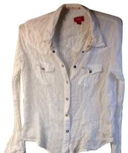 Mossimo Button Down Shirt White