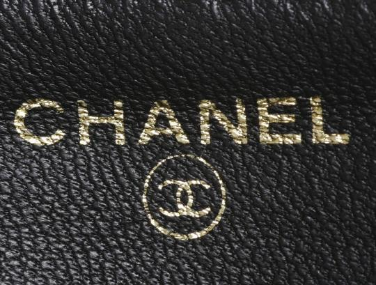Chanel Authentic CHANEL Caviar Skin Genuine Leather Zip-Around Long Wallet Image 10