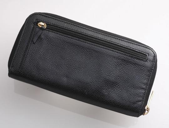 Chanel Authentic CHANEL Caviar Skin Genuine Leather Zip-Around Long Wallet Image 2