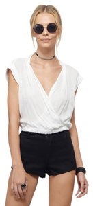 Tobi Backless Crop Party Top Ivory