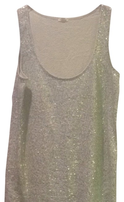 J.Crew Sequin Sequin Sleeveless Top Sea foam