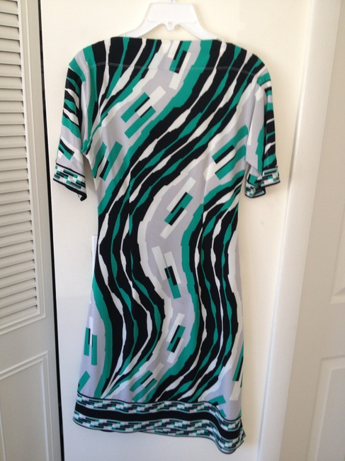 BCBGMAXAZRIA short dress mixed black,grey ,green and white on Tradesy