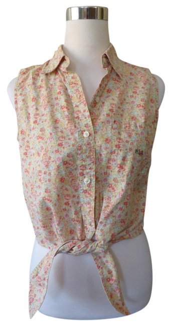 Preload https://item4.tradesy.com/images/ralph-lauren-sleeveless-button-down-tie-yellow-pink-floral-womens-blouse-size-6-s-750668-0-0.jpg?width=400&height=650