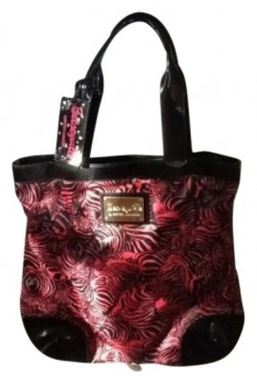 Betsey Johnson Tote in Pink, black