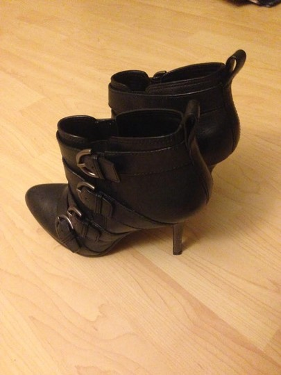Coach Straps Leather Ancle Black Boots
