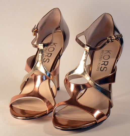 Michael Kors Gold and Silver Pumps