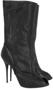Georgina Goodman Leather Designer Trendy Perforated Black Boots