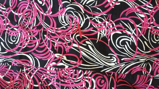 Ann Taylor LOFT short dress black, white and hot pink Strapl Strapless on Tradesy
