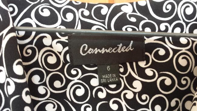 Connected Apparel short dress Black and White on Tradesy