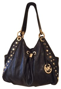 Michael Kors Studded Leather Hobo Bag