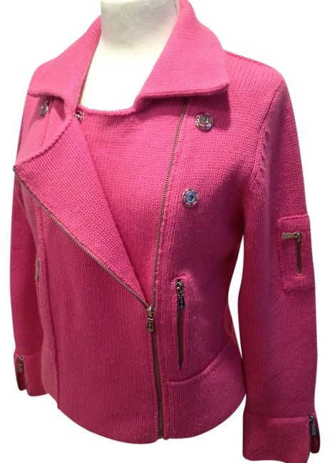 Preload https://item2.tradesy.com/images/one-girl-who-hot-pink-motto-sweater-motorcycle-jacket-size-4-s-751361-0-0.jpg?width=400&height=650