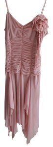 Sue Wong Ruffles Chiffon Scrunch Waist Dress