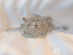 Eucenia Vintage Inspired Crystal Comb Garland Headpiece Hair Accessory