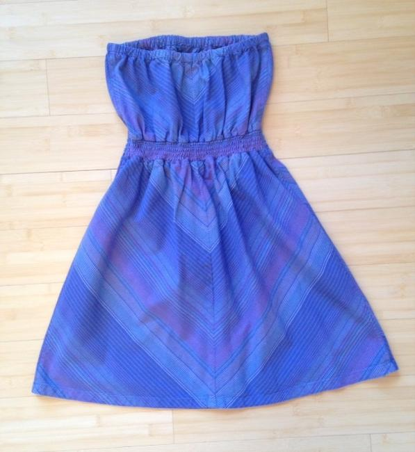 Mossimo Supply Co. short dress Blue Strapless Striped Target on Tradesy