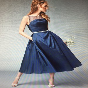Monique Lhuillier Navy 450283 Dress