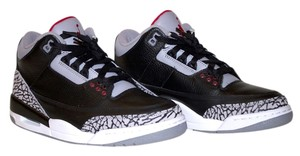 Air Jordan Jordans Jordan 3 2008 Release Retro Countdown Black-Cement Grey/ Varsity Red Athletic