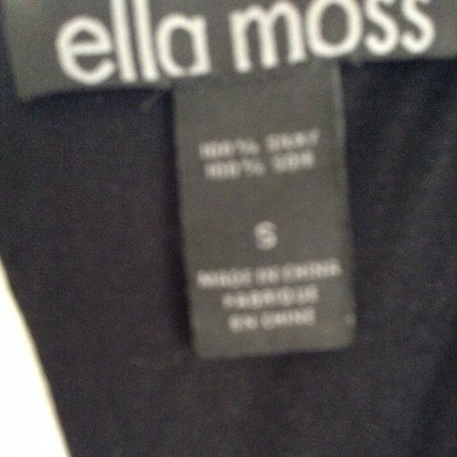 Ella Moss Blouse Silk T Shirt Black & Gray