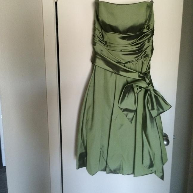 Item - Green Polyester Vintage Bridesmaid/Mob Dress Size 6 (S)