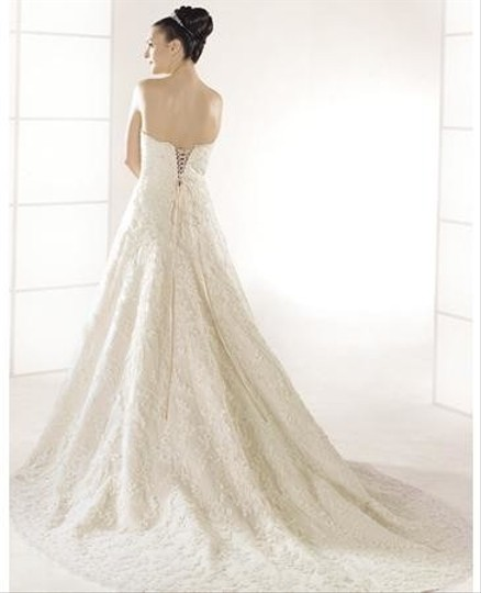 Anjolique Ivory Lace 403 Traditional Wedding Dress Size 12 (L)