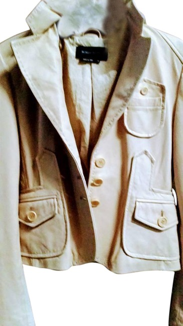 Item - Buther Cream Leather B282swr Jacket Size 0 (XS)