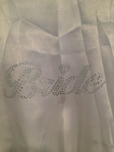White Bridal Robe - Rhinestone