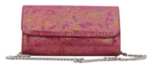 Carlos Falchi Pink Metallic Clutch