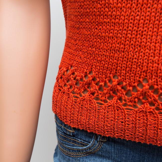 DKNY Knit Top Orange Image 4
