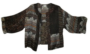 Chico's Evening Silk Brown multicolor Jacket