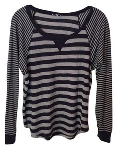 Splendid T-shirt Top Navy/gray stripe