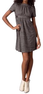 Anthropologie short dress Brown houndstooth Ella Moss Houndstooth Fall Knit on Tradesy