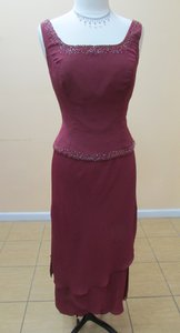 Alfred Angelo Wine 6355/mskt-p Dress