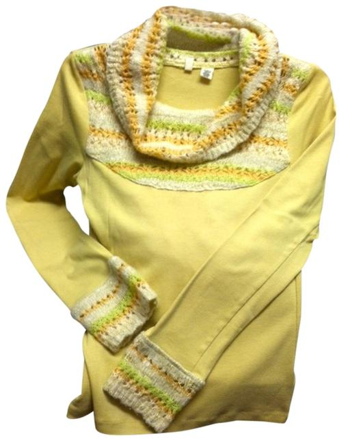 Preload https://item1.tradesy.com/images/anthropologie-chartreusemulti-moth-retro-inspired-mix-media-turtleneck-sweaterpullover-size-8-m-752605-0-0.jpg?width=400&height=650