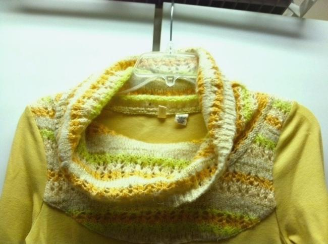 Anthropologie Vintage Inspired Knit Unique Cowl Turtle Neck Sweater