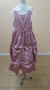 Alfred Angelo Dusty Rose 6606 Flowe Girl Dress Size 8 Dress