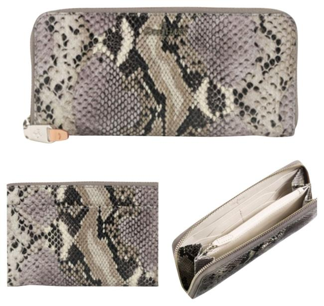 Item - Gray Snakeskin Crosby Travel Zip Wallet