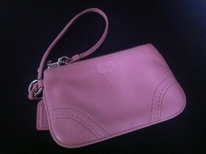 Pink/Unknown Coach Leather Wristlet Bridal Handbag
