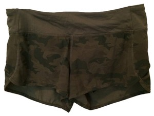 Lululemon Fatigue Green Camo Run Speed Shorts