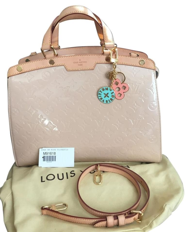 3ff667107eaaf Louis Vuitton Florentine Brea Gm( Charm Is Not Included) Rose Florentine  Patent Vernis Leather Tote