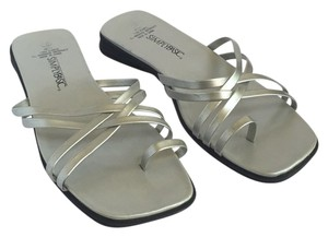 Simply Basic Silver Sandals