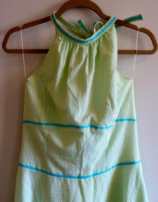 Elizabeth Wayman short dress Green Halter Seersucker Preppy Sundress on Tradesy Image 2